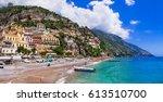 italian holidays   beautiful...   Shutterstock . vector #613510700