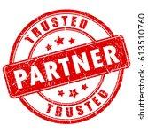 trusted partner rubber vector... | Shutterstock .eps vector #613510760
