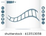film icon vector illustration... | Shutterstock .eps vector #613513058