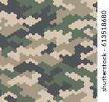 camouflage pattern background... | Shutterstock .eps vector #613518680