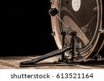 percussion instrument  bass... | Shutterstock . vector #613521164