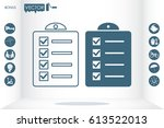checklist icon vector... | Shutterstock .eps vector #613522013