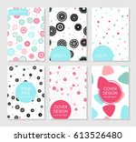 collection of creative covers.... | Shutterstock .eps vector #613526480