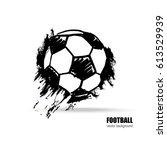vector illustration of a soccer ... | Shutterstock .eps vector #613529939
