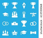ceremony icons set. set of 16... | Shutterstock .eps vector #613530068