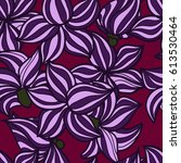 vector hand drawn floral... | Shutterstock .eps vector #613530464