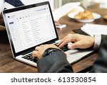 Stock photo email inbox message list online interface 613530854