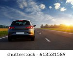 car and light on the road. | Shutterstock . vector #613531589
