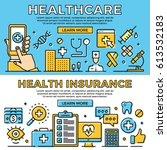 healthcare  health insurance... | Shutterstock .eps vector #613532183
