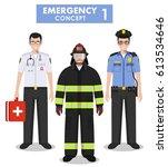 emergency concept. detailed... | Shutterstock .eps vector #613534646