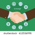 handshake of business partners. ... | Shutterstock .eps vector #613536998