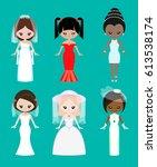 girls of different races in...   Shutterstock .eps vector #613538174