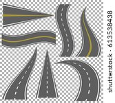 set of bending roads and... | Shutterstock .eps vector #613538438