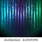 abstract glowing  blue green... | Shutterstock . vector #613539290