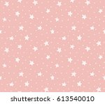 seamless pattern with chaotic... | Shutterstock .eps vector #613540010