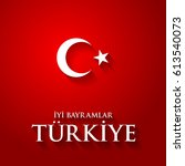 turkey flag color illustration... | Shutterstock . vector #613540073