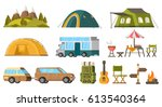 traveling camping elements set... | Shutterstock .eps vector #613540364
