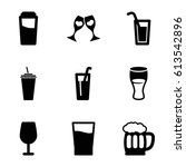 alcohol icons set. set of 9... | Shutterstock .eps vector #613542896