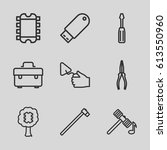 hardware icons set. set of 9... | Shutterstock .eps vector #613550960