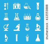 lab icons set. set of 16 lab... | Shutterstock .eps vector #613553888