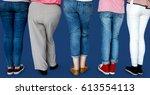 group of human leg standing in...   Shutterstock . vector #613554113