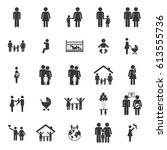family set  father  mother ... | Shutterstock .eps vector #613555736