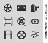 filmstrip icons set. set of 9... | Shutterstock .eps vector #613558268