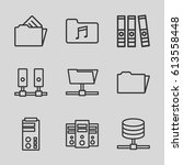 archive icons set. set of 9... | Shutterstock .eps vector #613558448