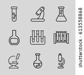 lab icons set. set of 9 lab... | Shutterstock .eps vector #613558868