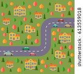 plan of village. landscape with ... | Shutterstock .eps vector #613559018