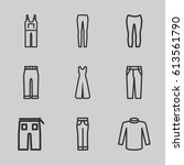 jeans icons set. set of 9 jeans ... | Shutterstock .eps vector #613561790