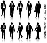 set silhouette businessman man... | Shutterstock .eps vector #613562180