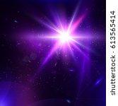 abstract vector glowing...   Shutterstock .eps vector #613565414