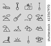 landscape icons set. set of 16... | Shutterstock .eps vector #613567970