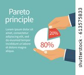 pareto principle. 20  of... | Shutterstock .eps vector #613575833