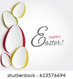 simple vector colorful paper... | Shutterstock .eps vector #613576694