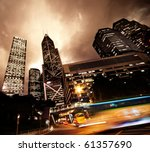 fast moving cars at night | Shutterstock . vector #61357690