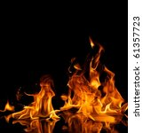 beautiful stylish fire flames...