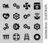 engine icons set. set of 16...   Shutterstock .eps vector #613578194