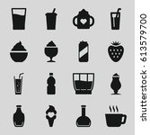 refreshment icons set. set of... | Shutterstock .eps vector #613579700