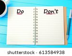 the words do and don't on... | Shutterstock . vector #613584938
