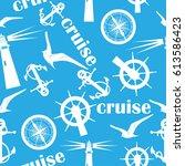 marine texture. cruise steering ... | Shutterstock .eps vector #613586423