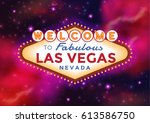 vector las vegas sign on the... | Shutterstock .eps vector #613586750