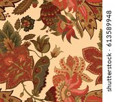mediterranean seamless textile... | Shutterstock . vector #613589948