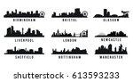 set of great britain big cities ... | Shutterstock .eps vector #613593233