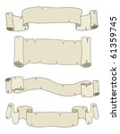 vector set   four antique... | Shutterstock .eps vector #61359745