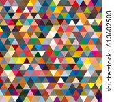 abstract geometric colorful... | Shutterstock .eps vector #613602503