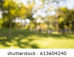 abstract blur city park bokeh... | Shutterstock . vector #613604240