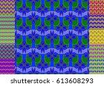 set of pattern for brochure or...