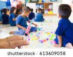 all children need to be... | Shutterstock . vector #613609058